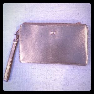 Rose Gold Metallic Leather Wristlet, Never Used